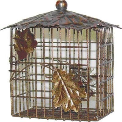 Decorative Leaf Double Suet Basket