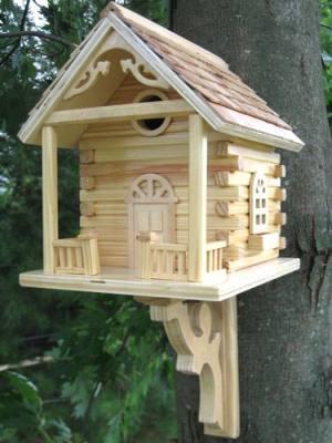 Natural Cabin Birdhouse