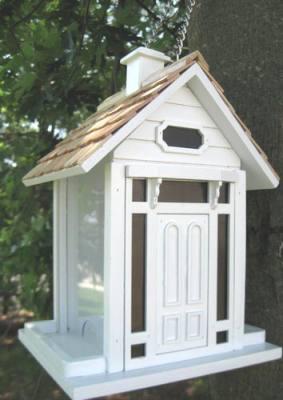 Bellport Cottage Bird Feeder White
