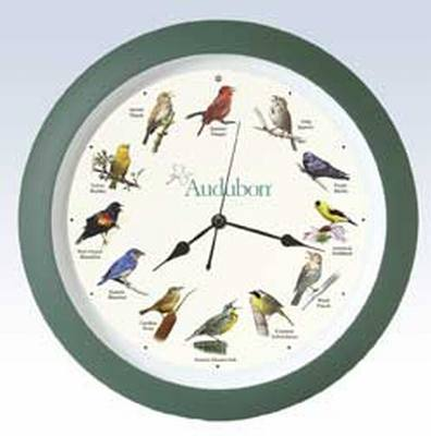 Audubon Singing Clock 13 in. - Green