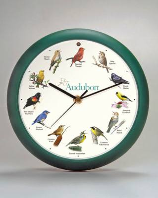 Audubon Singing Clock 8 in Green