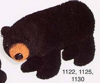 Bear, Standing, Black, 12 in.