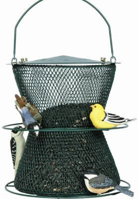 Green Hourglass Bird Feeder