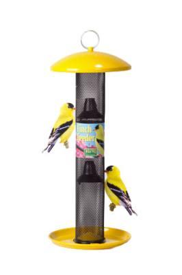 Yellow Straight Sided Finch Feeder