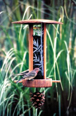 Songbird Lantern Bamboo Bird Feeder