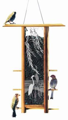 Heron Willows Teahouse Bird Feeder