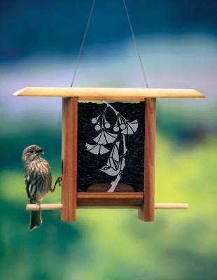 Gingko Leaves Teahouse Bird Feeder