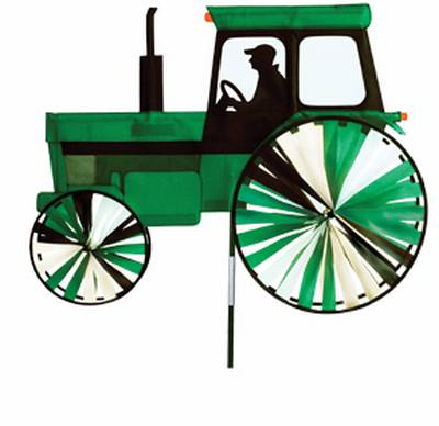 Large Modern Tractor Green