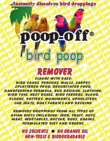 Poop-Off Bird Poop Remover 16 oz Brush Top