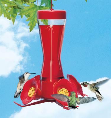 4 Fountain Hummingbird Feeder with Perch 8 oz