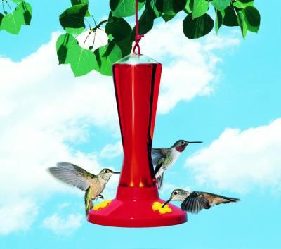 Plastic 3-Station Hummingbird Feeder, 8 oz.