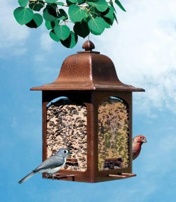 Tulip Garden Lantern Bird Feeder