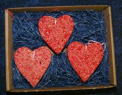 3 pk Ornament Hearts