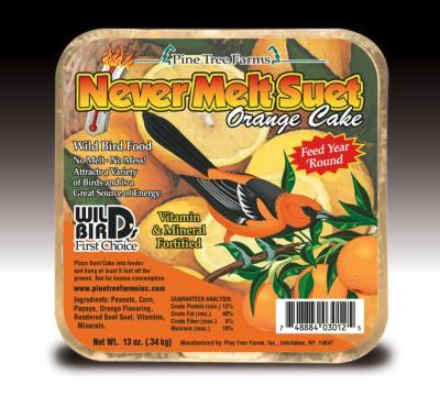 Never Melt Suet Orange 12 oz