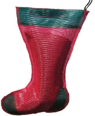 Jumbo Holiday Thistle Sack Red and Green/Gift Sack