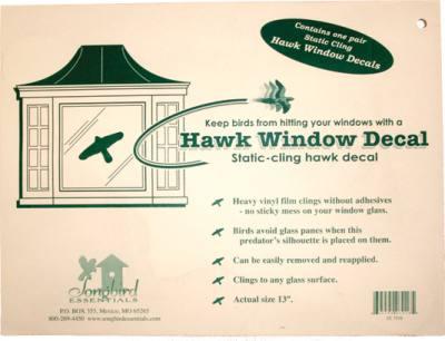 Static Cling Window Hawk 2 per pkg. (Replaces the VIHAWK)
