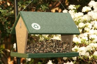 Recycled Hopper Feeder Hunter Green/Driftwood