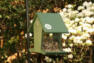 Recycled Tall Hopper Bird Feeder 4 Quart