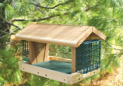 Large Cedar Plantation with 2 Suet Baskets