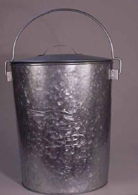 Large Seed Bucket Galvanized