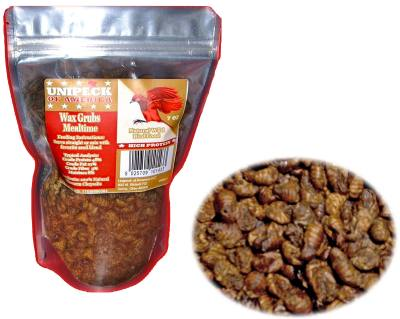 Dried Wax Grubs 7 oz.  Pouch – aprox. count 880