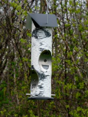 Birch Log – Thistle / Nyjer Seed - Wild Bird Feeder