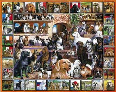 World of Dogs 1000 Piece Jigsaw Puzzle
