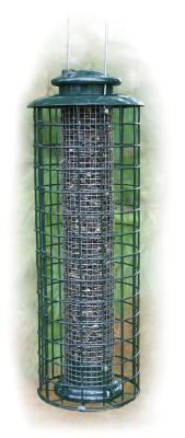 Caged Screen Sunflower Tube Feeder
