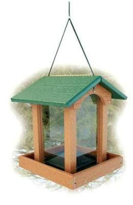 Recycled Plastic Tall Hopper Bird Feeder