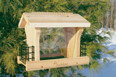Large Ranch Feeder. w/Suet Screen