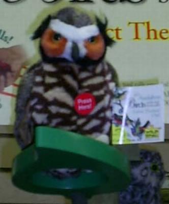 Great Horned Owl Plush Bird