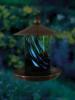 Fluted Green Illuminarie Glass Feeder