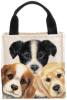Peeping Puppies Canvas Totes