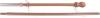 60in. 2 pc. Wood House Flag Pole