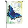 Sapphire Butterfly Garden Flag